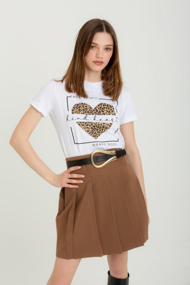 T-shirt stampa leopardata