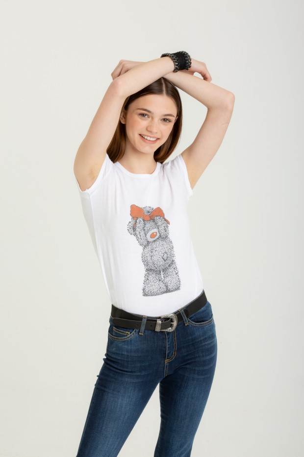 T-shirt with a teddy print