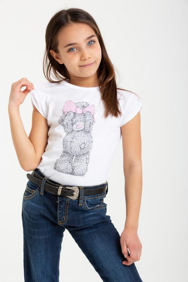 T-shirt stampa teddy