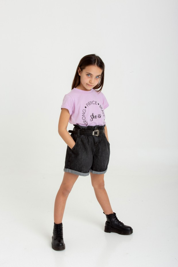 Shorts con cintura arricciata