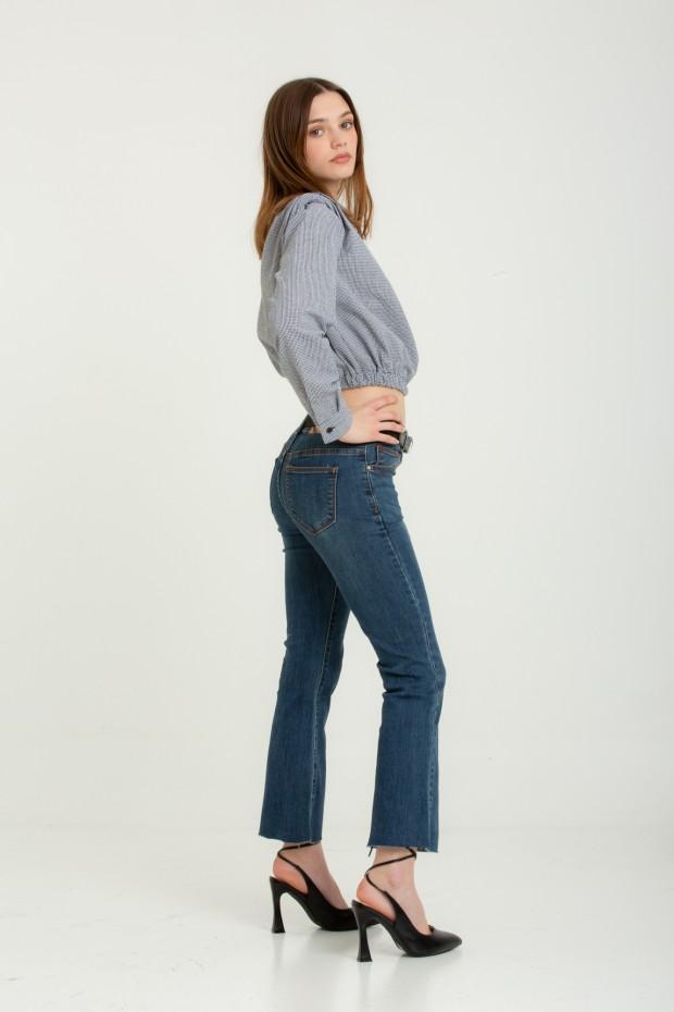 Jeans cropped a zampa