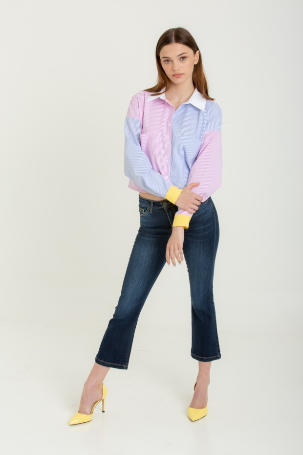 Jeans flare cropped