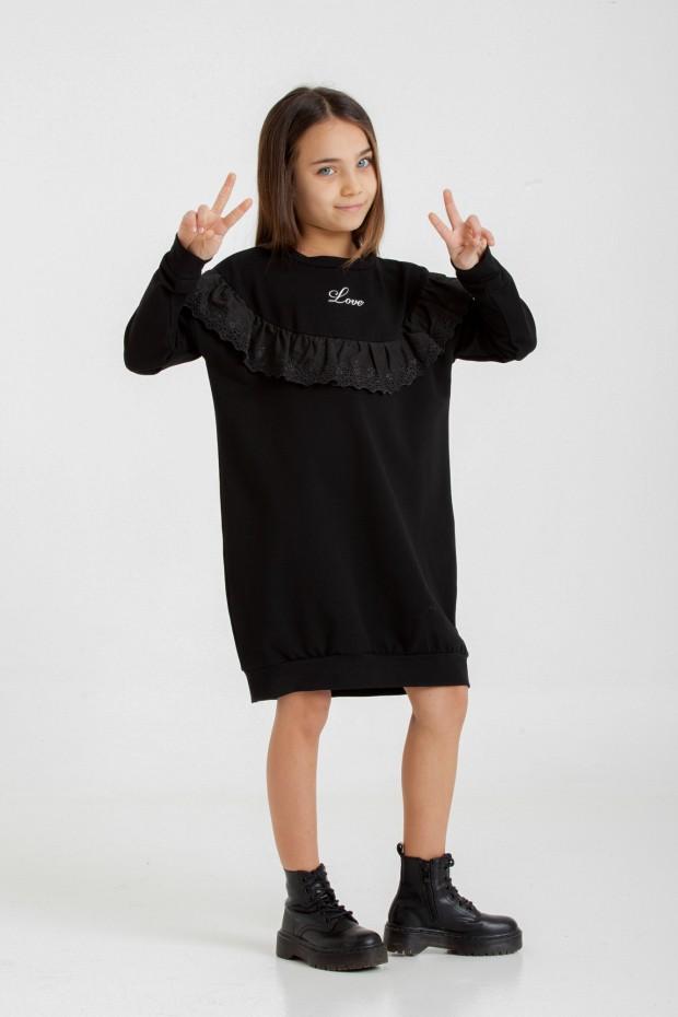 Fleece mini dress with...