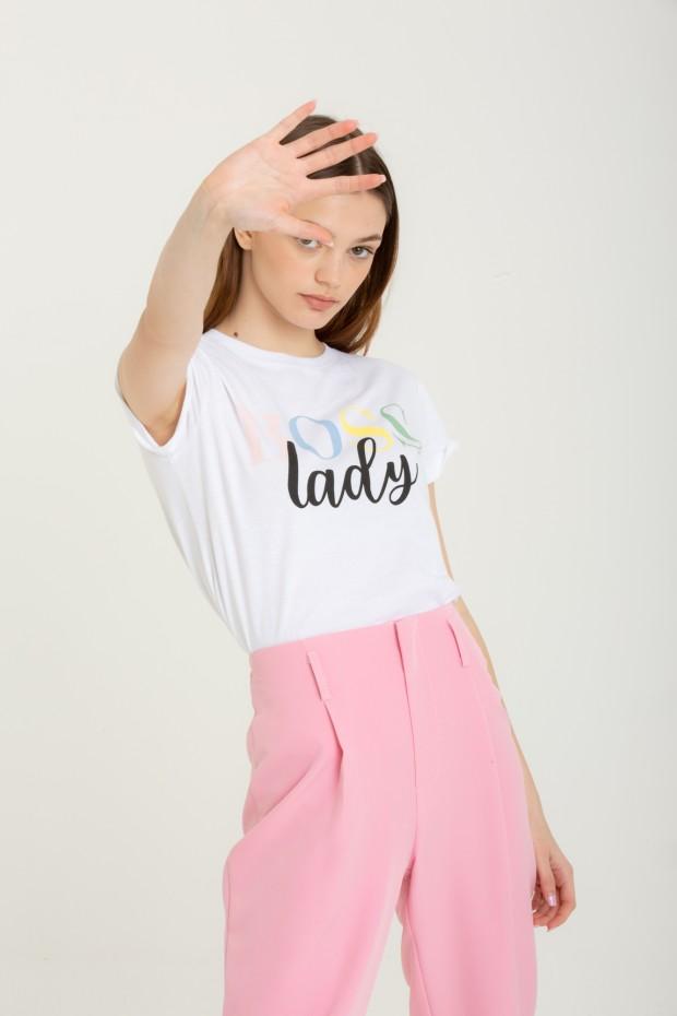 T-shirt stampa boss lady