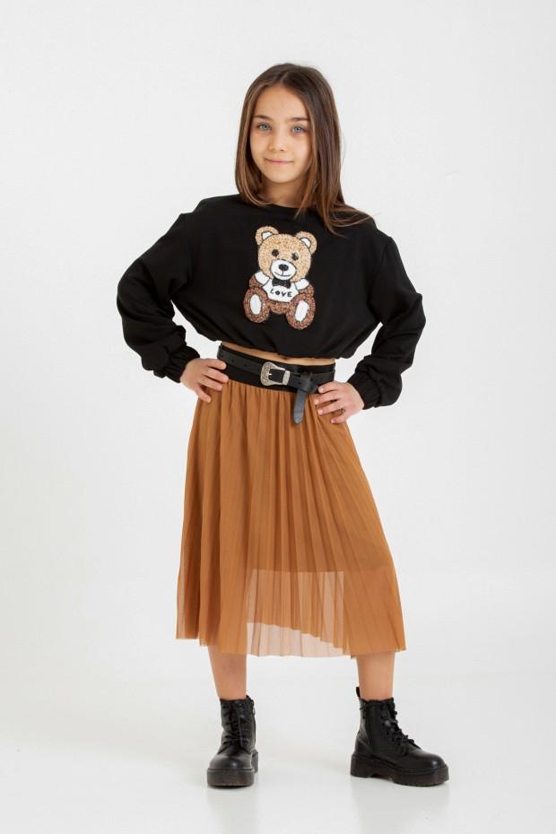 Tulle pleated skirt