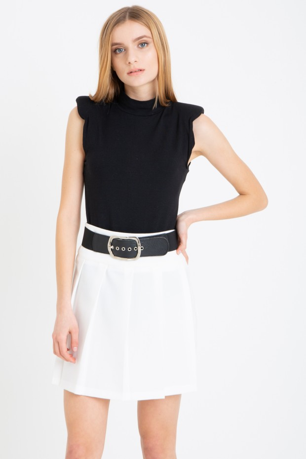 Bodysuit with shoulder pads