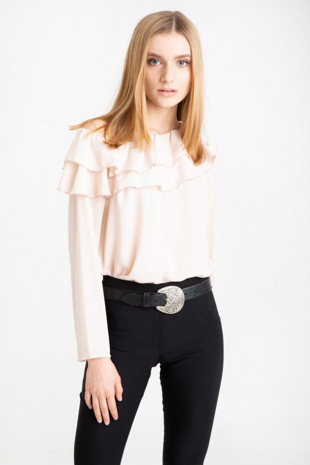 Ruffled one sleeve blouse