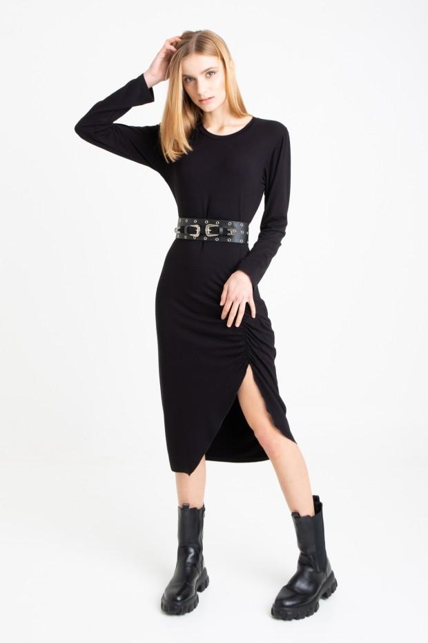 Midi dress with draped detail