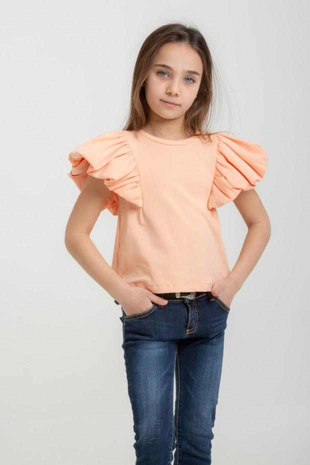 T-shirt with ruffle