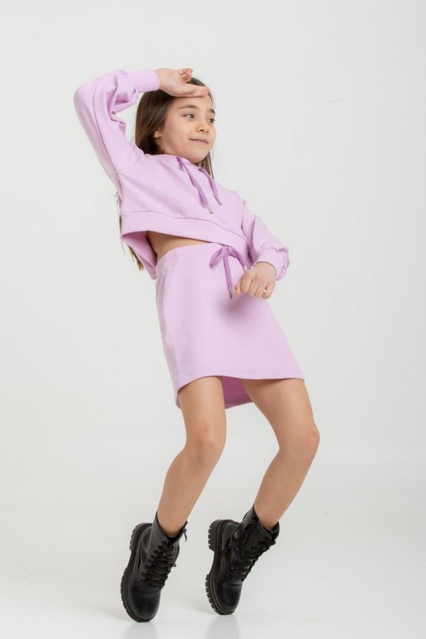 Fleece mini skirt