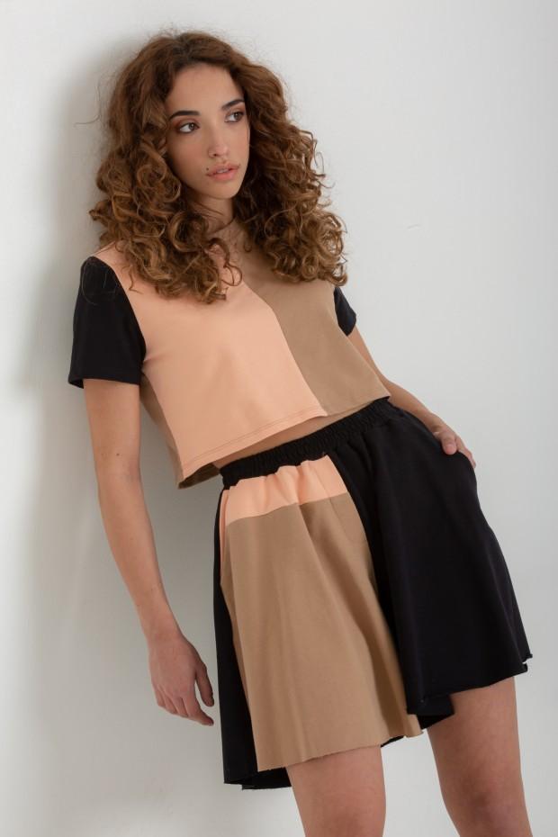 Fleece multicolored shorts