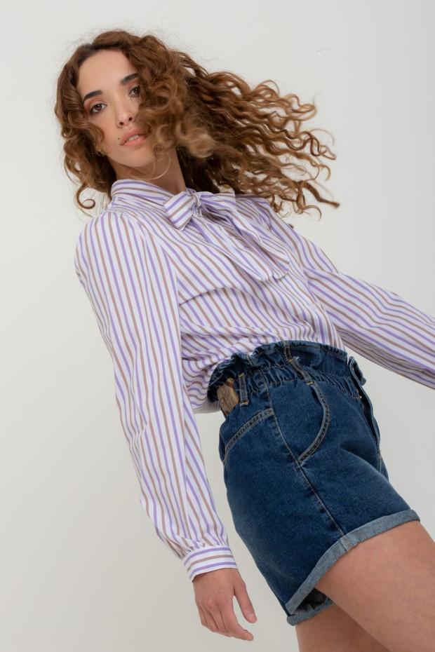 Camicia con fiocco