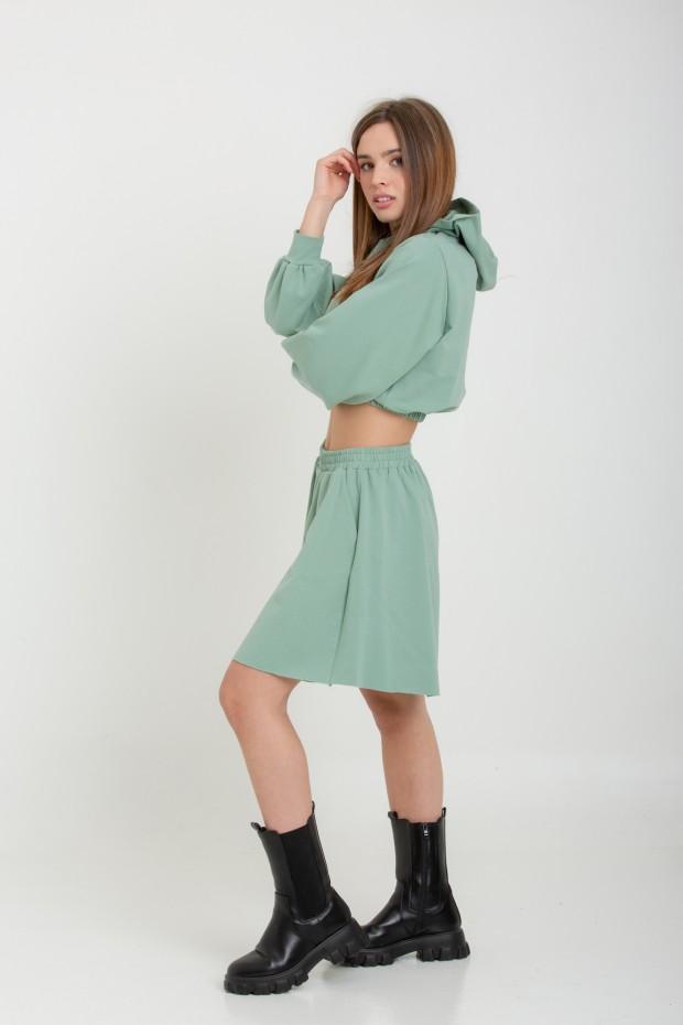 Fleece oversize shorts