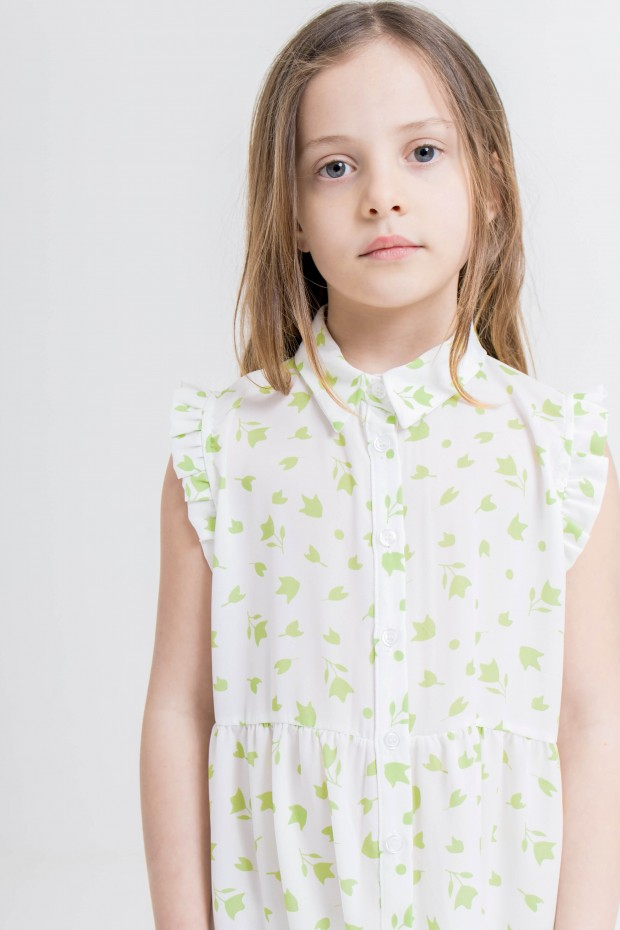 Patterned mini dress with...