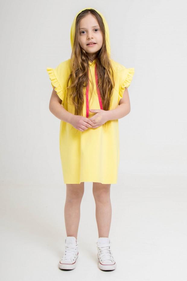 Mini dress in felpa