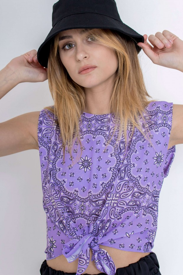Top stampa paisley