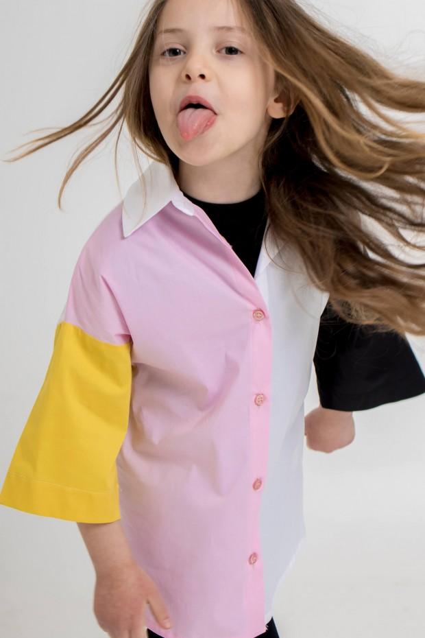 Camicia color block