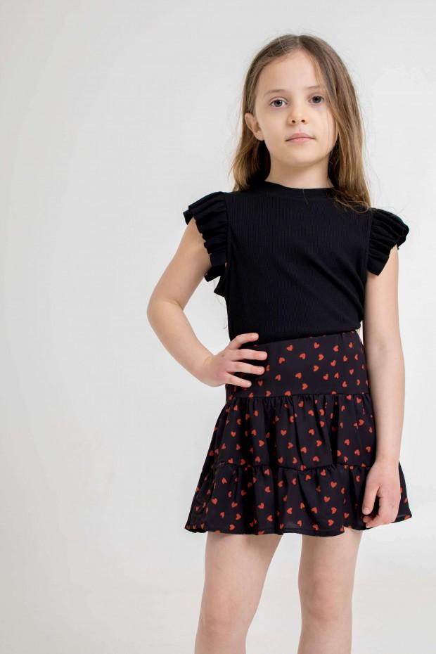 Ruffled mini skirt with...