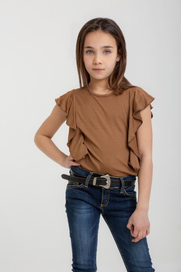 Ruffled sleeveless