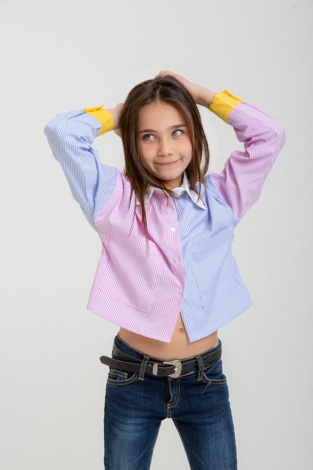 Camicia multicolor