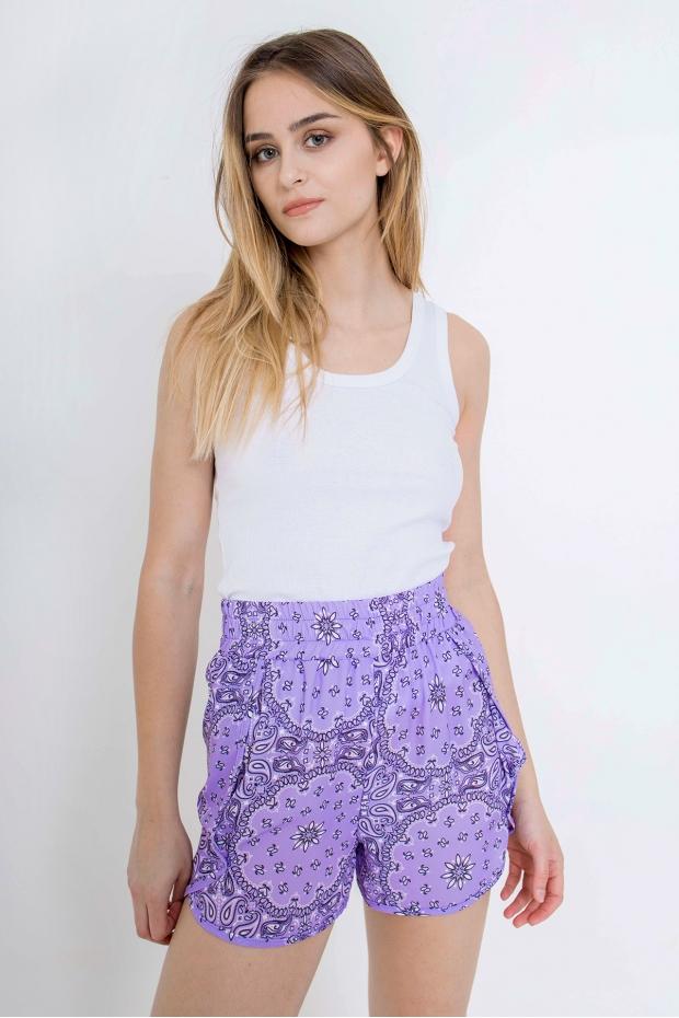Shorts stampa paisley