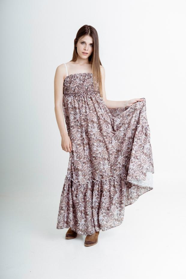 Long dress paisley pattern