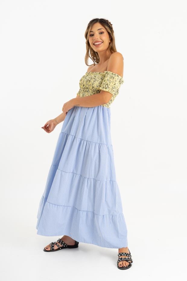 Long dress a righe