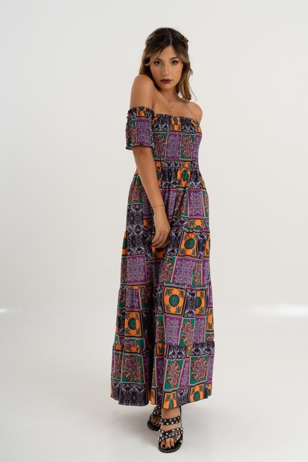 Long dress fantasia maiolica