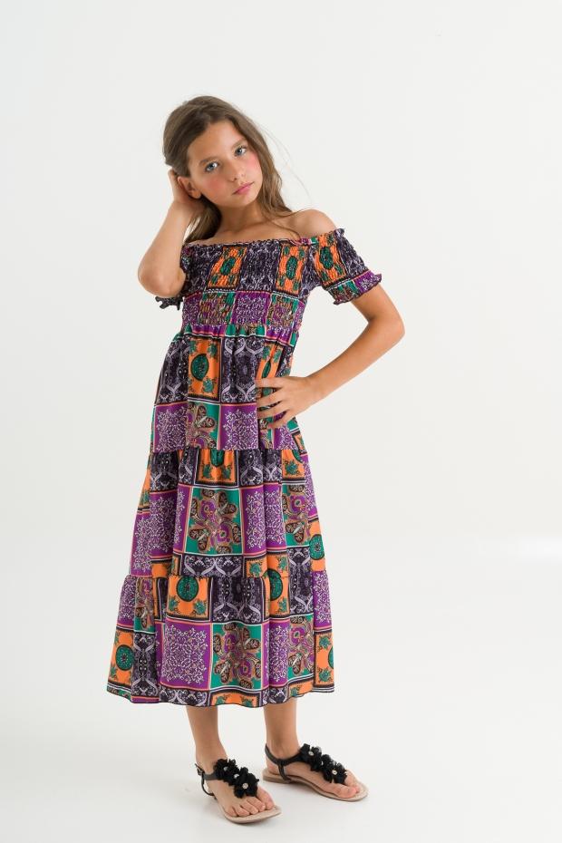 Long dress maiolica