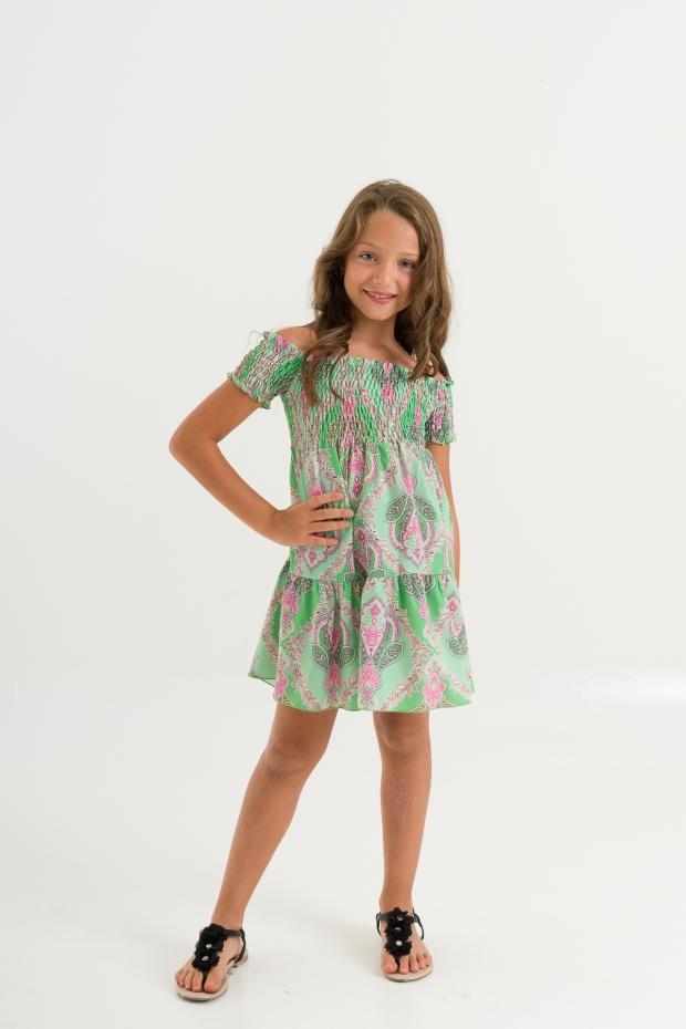 Mini dress fantasia paisley