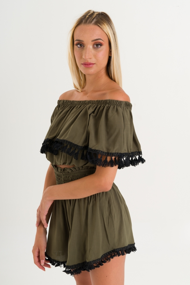 Top cropped con nappine